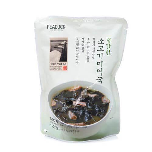 韓國食品-[Peacock] Beef and Seaweed Soup 500g
