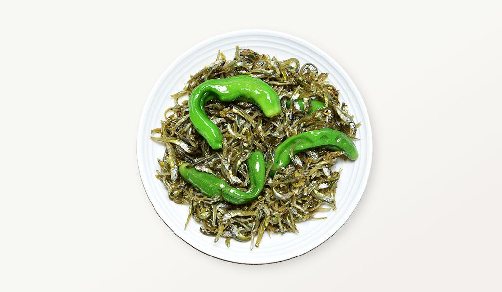 韓國食品-Stir fried anchovies with shishito pepper