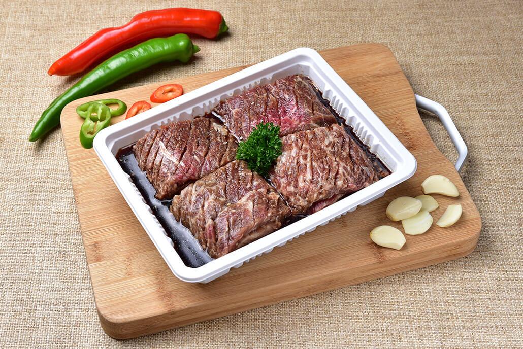 韓國食品-[C&T] Marinated Beef Short Ribs 1pc