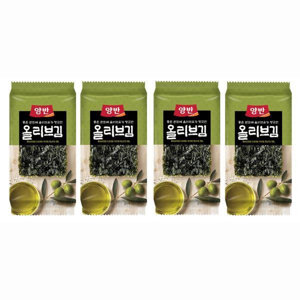 韓國食品-[Dongwon] Yangban Olive Oil Seasoned Laver 5g*4p