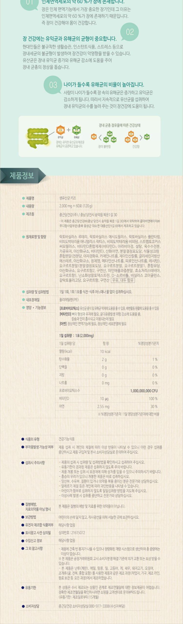韓國食品-[Chongkundang] Lacto-Fit [Kids]2g*60p