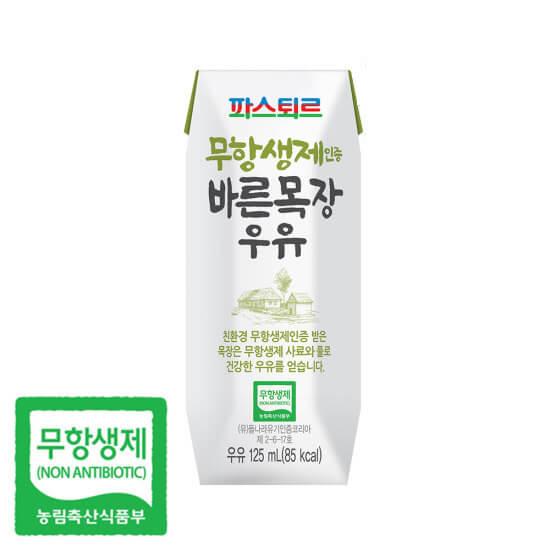 韓國食品-[Pasteur] Non-Antimicrobial Ranch Milk 125mlx3