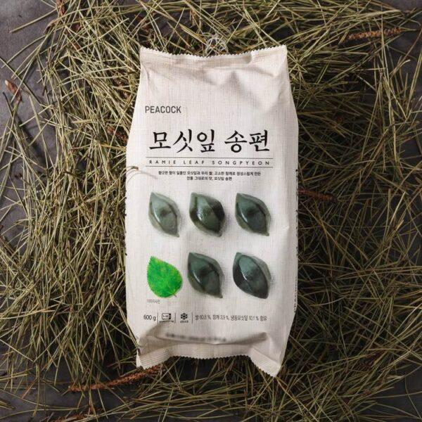 韓國食品-[Peacock] Ramie Leaf Songpyeon Rice Cake 600g