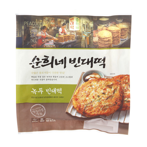 韓國食品-[Peacock] 綠豆煎餅 400g