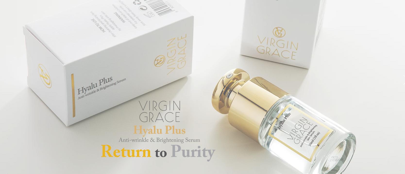 韓國食品-[Virgin Grace] Hyalu Plus Anti-wrinkle & Brightening Serum 30ml