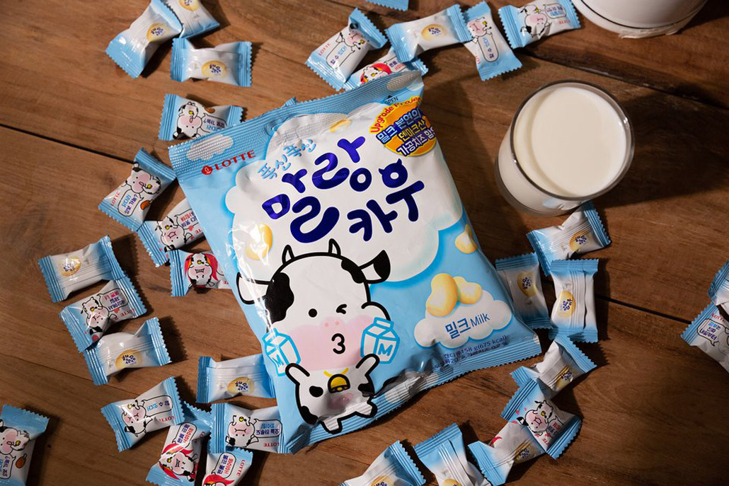 韓國食品-[Lotte] Malang Cow Candy [Milk] 79g