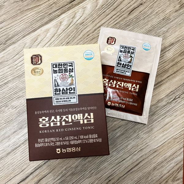 韓國食品-[50%OFF] (Expiry Date: 26/8/2021) [Hansamin] Korean Red Ginseng Tonic 50mL*5
