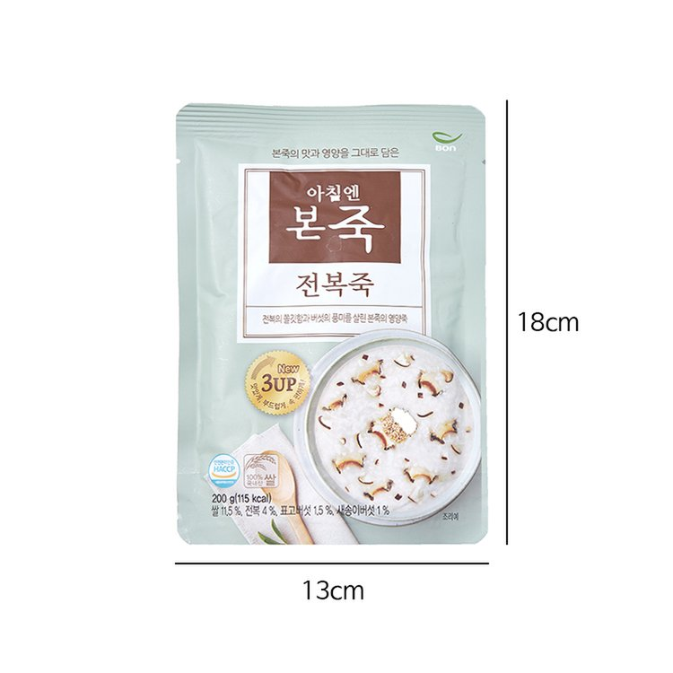 韓國食品-[Bonif] Abalone Porridge 200g