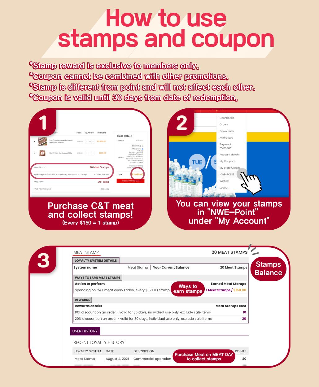 韓國食品-Every Friday is MEAT DAY! - Collect stamps upon spending on C&T meat every Friday and redeem your coupon!