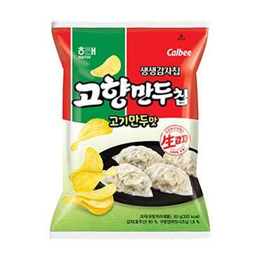 韓國食品-[Haitai] Dumpling Favour Chip (Pork) 60g