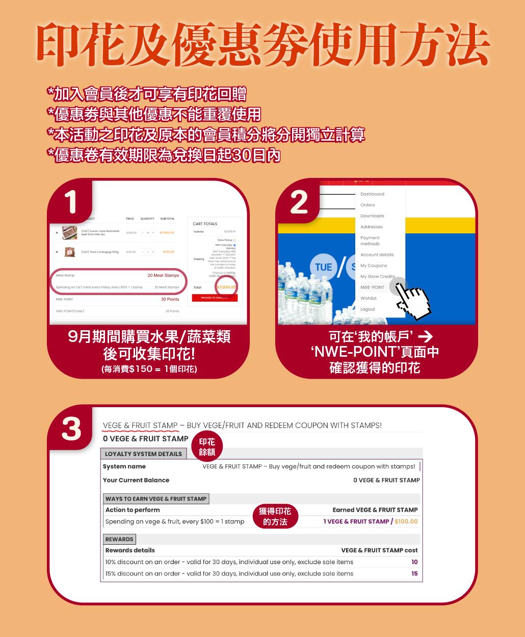 韓國食品-豐盛的秋天 – 凡購買水果/蔬菜產品 即可獲贈印花以兌換優惠劵!