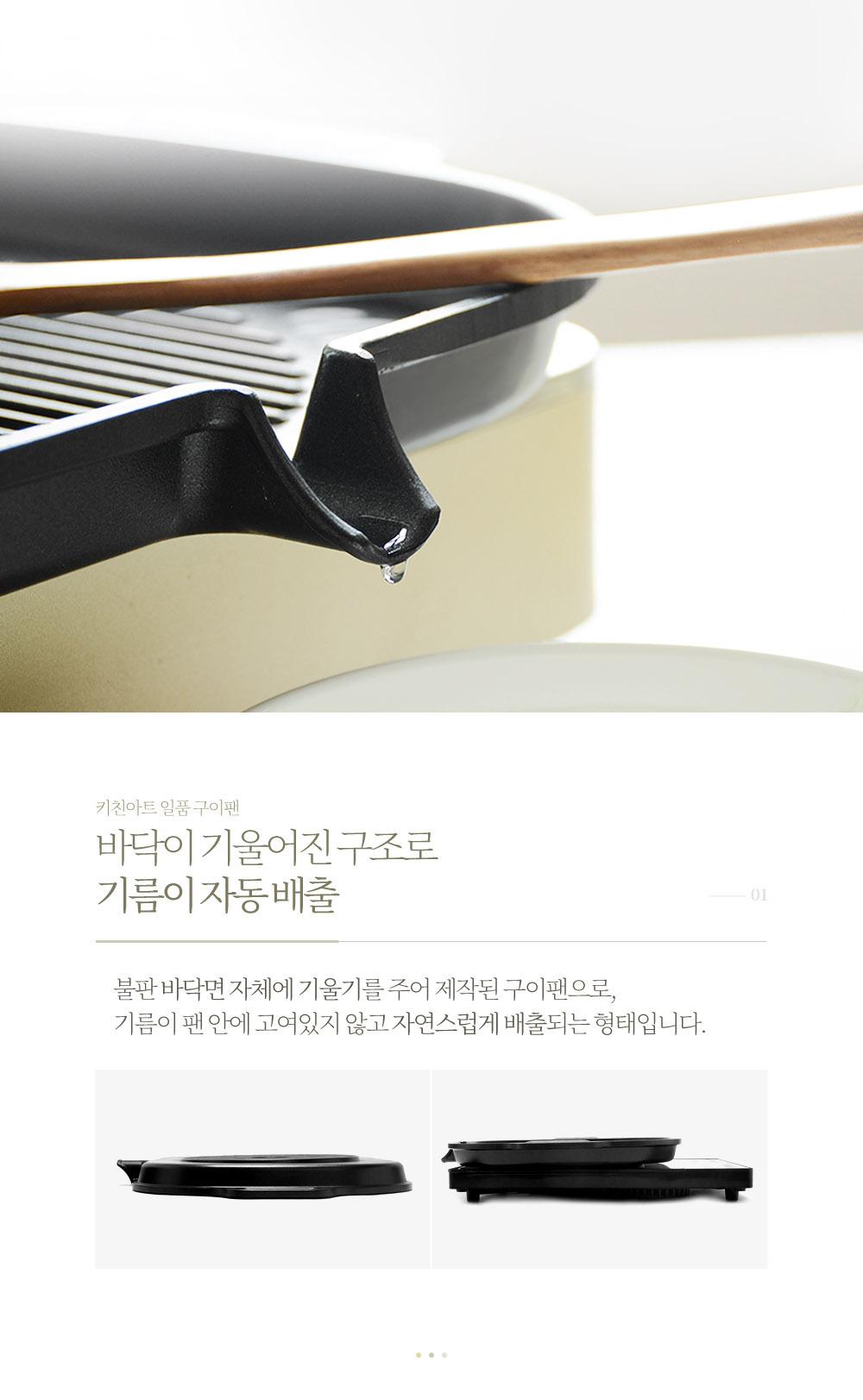韓國食品-[KitchenArt] Round Induction BBQ Pan Roaster 38.5x30cm